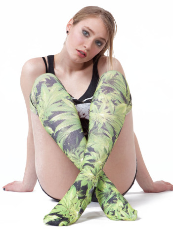 Tree Over the Knee Socks by Odd Sox