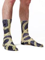 Gold Chain Socks by Odd Sox