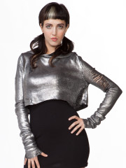 Silver Foil Hooded Sweater by Lip Service