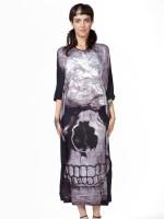 Skull Boho Maxi Dress by Killstar
