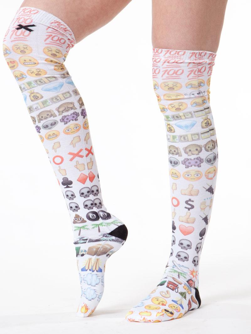 Emoji Knee Socks By Odd Sox